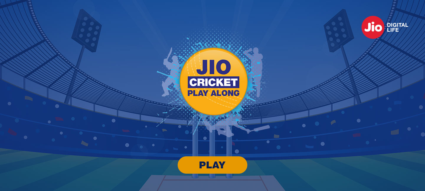 Jio Cricket Play Along. Play along and win exciting prizes